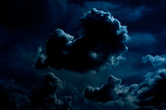 Nuvole di notte scure Immagine Stock Libera da Diritti