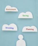 Nuvole di pensionamento Immagine Stock