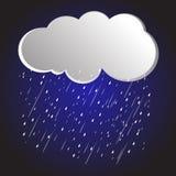 Nuvole di pioggia del fondo, tempesta Immagine Stock