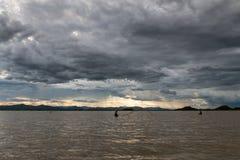 Nuvole di pioggia nella stagione delle pioggie Fotografia Stock