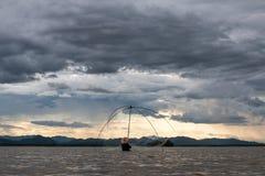 Nuvole di pioggia nella stagione delle pioggie Fotografie Stock Libere da Diritti