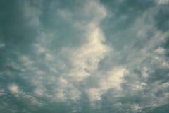 nuvole di pioggia nere Fotografia Stock Libera da Diritti