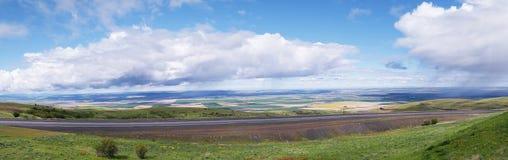 Nuvole di pioggia - panorama Fotografia Stock Libera da Diritti