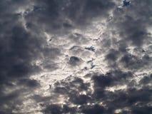 Nuvole di pioggia prima della pioggia Fotografie Stock