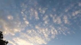 Nuvole di rotolamento attraverso il cielo della Nord Carolina fotografia stock