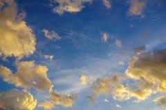 Nuvole di sera Immagine Stock