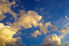 Nuvole di sera Fotografie Stock Libere da Diritti