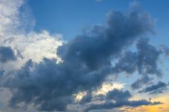 Nuvole di sera Fotografia Stock