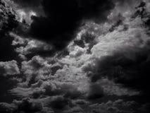Nuvole di sera in Germania Immagine Stock