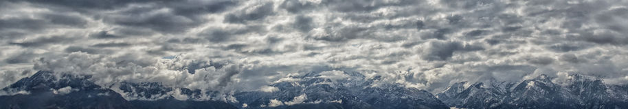 Nuvole di sollevamento Immagine Stock