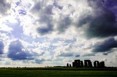 Nuvole di Stonehenge Fotografie Stock Libere da Diritti