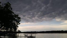 Nuvole di tempesta al crepuscolo Immagine Stock Libera da Diritti