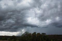 Nuvole di tempesta a Ayamonte, Spagna Immagini Stock Libere da Diritti