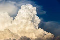 Nuvole di tempesta bagnate nella luce di tramonto immagine stock