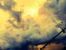 Nuvole di tempesta che arrivano a fiumi i cieli di Florida del bradenton Fotografie Stock Libere da Diritti