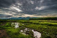 Nuvole di tempesta di agricoltura Immagini Stock Libere da Diritti