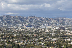 Nuvole di tempesta di Los Angeles Immagine Stock
