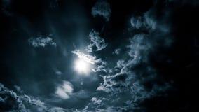 Nuvole di tempesta di panorama nel cielo stock footage