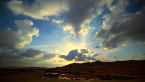 Nuvole di tempesta di lasso di tempo video d archivio