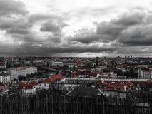 Nuvole di tempesta a Praga Fotografia Stock Libera da Diritti