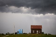 Nuvole di tempesta Saskatchewan Fotografia Stock