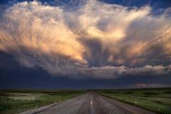 Nuvole di tempesta Saskatchewan fotografia stock libera da diritti