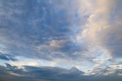 Nuvole di tramonto Fotografie Stock