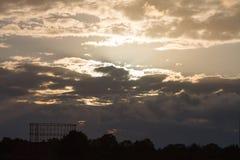 Nuvole di tramonto Immagini Stock Libere da Diritti