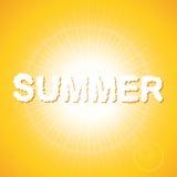 Nuvole di tramonto di estate Fotografie Stock