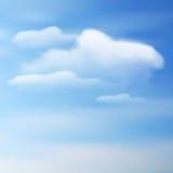 Nuvole di vettore su un cielo blu Fotografie Stock Libere da Diritti