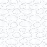 Nuvole disegnate a mano su carta quadrata royalty illustrazione gratis