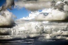 Nuvole drammatiche lunatiche Fotografia Stock Libera da Diritti