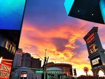 Nuvole e cielo, Las Vegas, effetto delle luci di tramonto fotografia stock libera da diritti