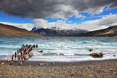 Nuvole e forti venti di tempesta Fotografie Stock