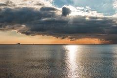 Nuvole e mare Fotografie Stock Libere da Diritti