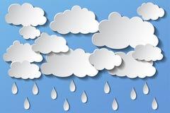Nuvole e pioggia di vettore nel pomeriggio ENV 10 illustrazione vettoriale