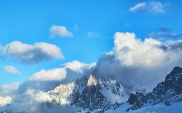 Nuvole e rocce Fotografia Stock
