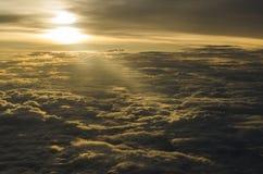 Nuvole e sole Fotografie Stock