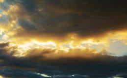 Nuvole e tempesta Immagini Stock Libere da Diritti