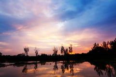 Nuvole e tramonto Fotografia Stock