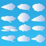 Nuvole e vettore dell'aria Fotografia Stock Libera da Diritti