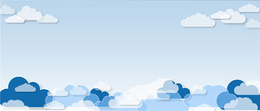 Nuvole, fondo del modello Fotografie Stock Libere da Diritti