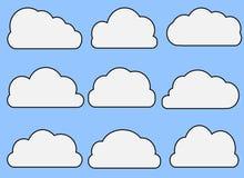 Nuvole illustrate Immagine Stock