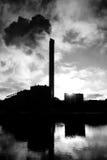 Nuvole inquinanti Fotografia Stock Libera da Diritti