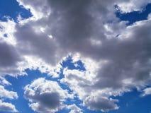 Nuvole lanuginose per fondo Fotografia Stock Libera da Diritti