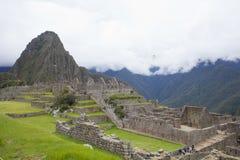 Nuvole a Machu Picchu Fotografia Stock Libera da Diritti