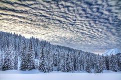 Nuvole minacciose di inverno Immagine Stock