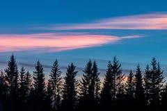 Nuvole nacreous variopinte Fotografie Stock Libere da Diritti