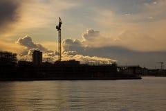 Nuvole nel cielo di Trieste Fotografie Stock Libere da Diritti