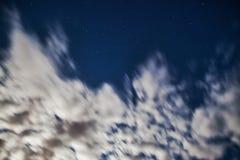 Nuvole nel moto Immagine Stock